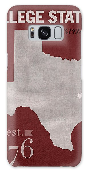 Texas A And M University Aggies College Station College Town State Map Poster Series No 106 Galaxy Case by Design Turnpike