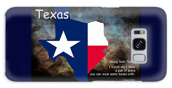 Jensen Ackles Texas Quote Galaxy Case