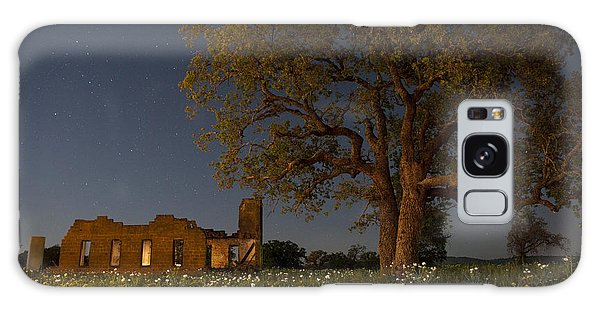 Texas Blue Bonnets At Night Galaxy Case