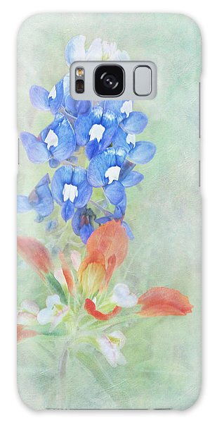 Texas Bluebonnet And Indian Paintbrush Galaxy Case by David and Carol Kelly