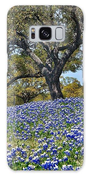 Texas Bluebonnet Hill Galaxy Case