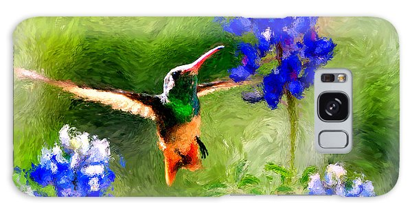 Da161 Texas Bluebonnet Hummingbird By Daniel Adams Galaxy Case