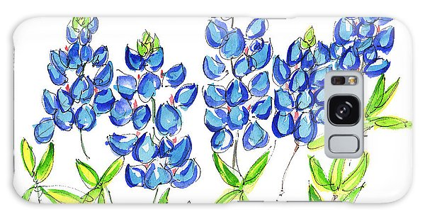 Texas Bluebonnets Watercolor Painting By Kmcelwaine Galaxy Case