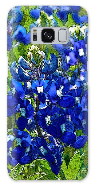 Texas Bluebonnets - Posterized Image Galaxy Case