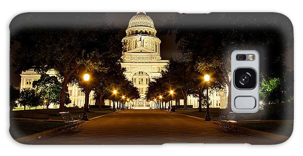 Texas Capitol At Night Galaxy Case by Dave Files