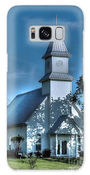 Texas Country Church Galaxy Case