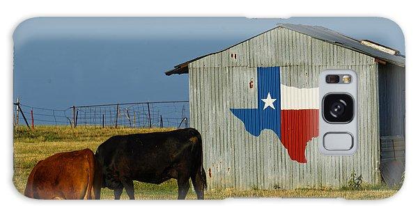 Texas Farm With Texas Logo Galaxy Case