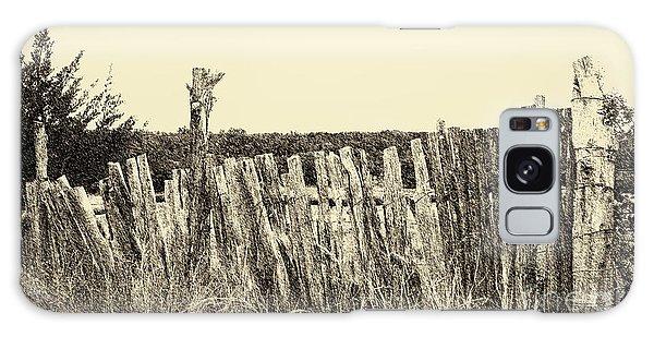 Texas Fence In Sepia Galaxy Case