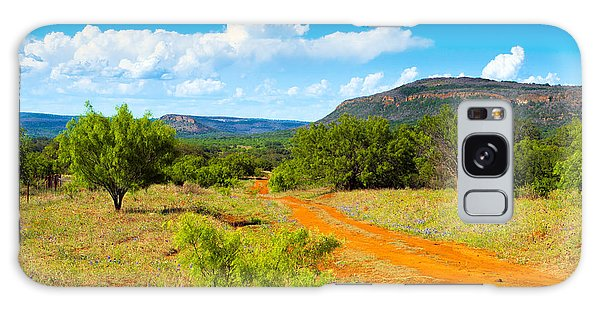 Texas Hill Country Red Dirt Road Galaxy Case
