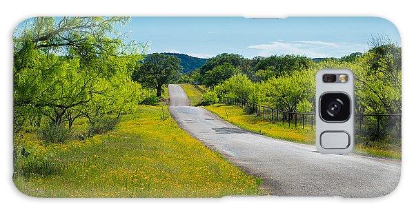 Texas Hill Country Road Galaxy Case by Darryl Dalton