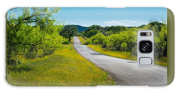Texas Hill Country Road Galaxy Case by Darryl Dalton