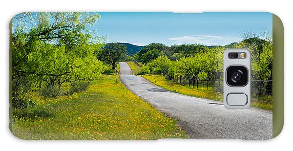 Texas Hill Country Road Galaxy Case