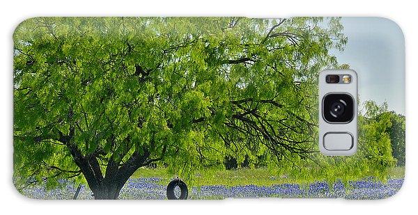 Texas Life - Bluebonnet Wildflowers Landscape Tire Swing Galaxy Case