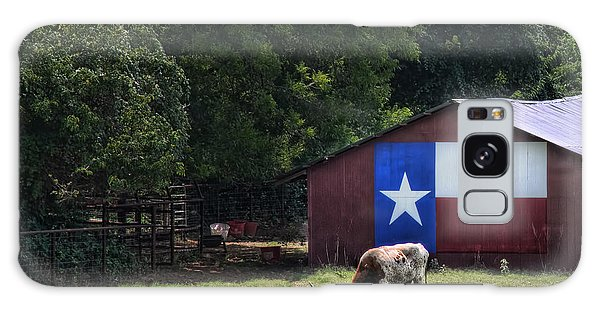 Texas Longhorn Grazing Galaxy Case