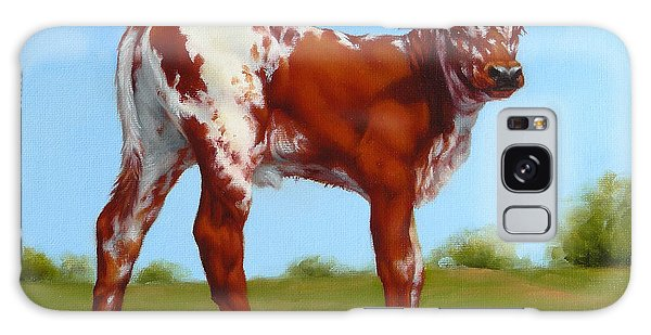 Texas Longhorn New Calf Galaxy Case by Margaret Stockdale
