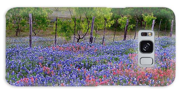 Texas Roadside Heaven -bluebonnets Paintbrush Wildflowers Landscape Galaxy Case