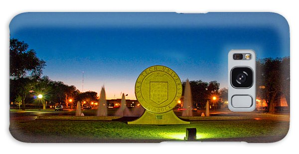 Galaxy Case featuring the photograph Texas Tech Seal At Night by Mae Wertz