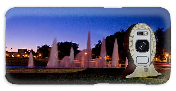 Galaxy Case featuring the photograph Texas Tech University Seal And Blue Sky by Mae Wertz
