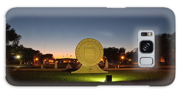 Galaxy Case featuring the photograph Texas Tech University Seal At Sundown Second Image by Mae Wertz