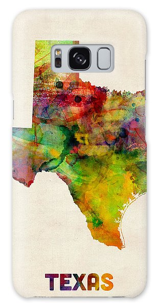 Texas Watercolor Map Galaxy Case by Michael Tompsett