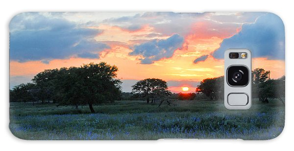 Texas Wildflower Sunset  Galaxy Case