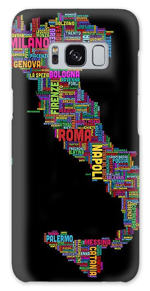 Text Map Galaxy Case - Text Map Of Italy Map by Michael Tompsett
