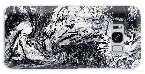 Textured Black And White Series 1 Galaxy Case by Angela Stout