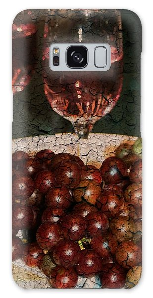 Textured Grapes Galaxy Case by Barbara S Nickerson