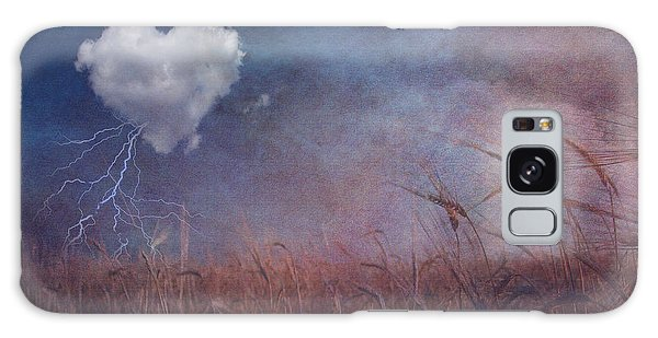 Textured Heart Cloud And Open Field Galaxy Case by Bruce Rolff