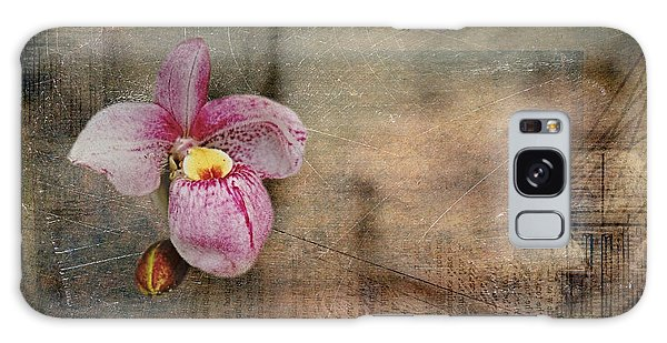 Textured Orchid Galaxy Case by Vicki DeVico