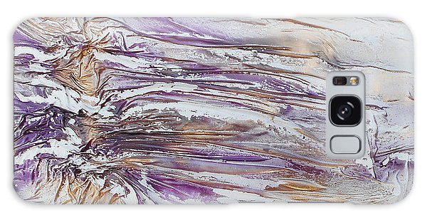 Textured Purple And Gold Series 3 Galaxy Case by Angela Stout