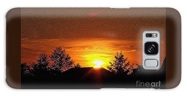 Textured Rural Sunset Galaxy Case
