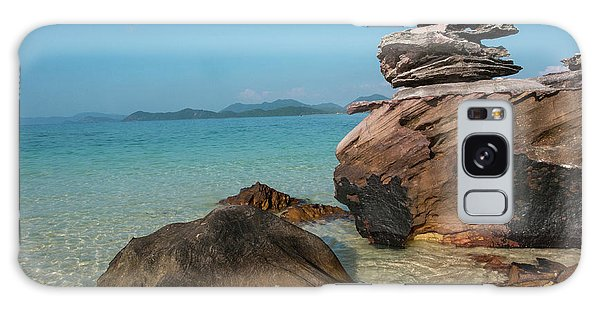 Phi Phi Island Galaxy Case - Thailand, Phuket, Phi Phi Islands, Rock by Terry Eggers