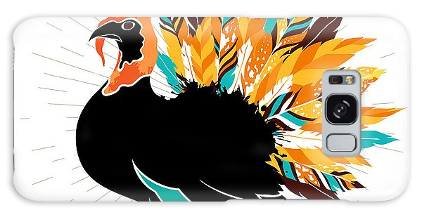 Event Galaxy Case - Thanksgiving Turkey With Feathers And by Ksanagraphica