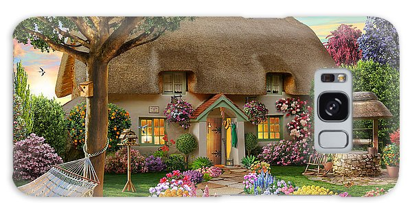 Thatched Cottage Galaxy Case by Adrian Chesterman