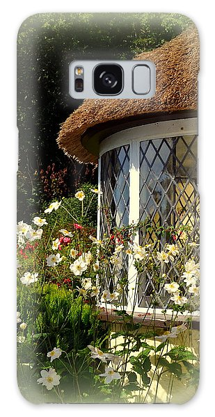 Thatched Cottage Window Galaxy Case