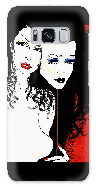 The 2 Face Girl Galaxy Case