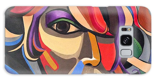Abstract Woman Art, Abstract Face Art Acrylic Painting Galaxy Case