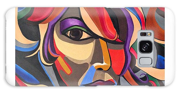 Colorful Abstract Woman Face Art, Acrylic Painting, 3d Illusion Galaxy Case