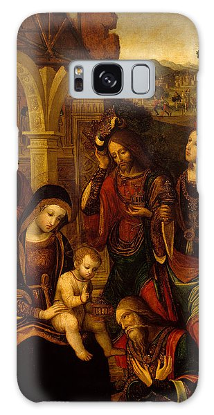 Bethlehem Galaxy Case - The Adoration Of The Kings by Neapolitan School