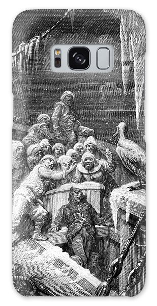 Albatross Galaxy S8 Case - The Albatross Being Fed By The Sailors On The The Ship Marooned In The Frozen Seas Of Antartica by Gustave Dore