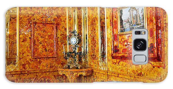 The Amber Room At Catherine Palace Galaxy Case