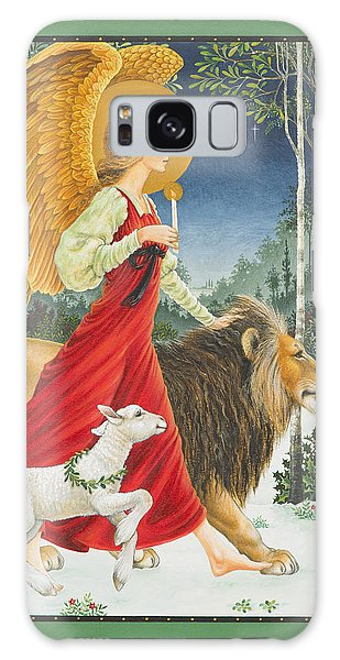 Card Galaxy S8 Case - The Angel The Lion And The Lamb by Lynn Bywaters