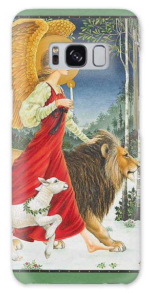 The Angel The Lion And The Lamb Galaxy Case