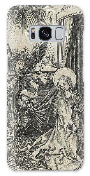 Annunciation Galaxy Case - The Annunciation by Martin Schongauer