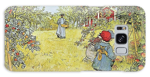 Rural Scenes Galaxy S8 Case - The Apple Harvest by Carl Larsson