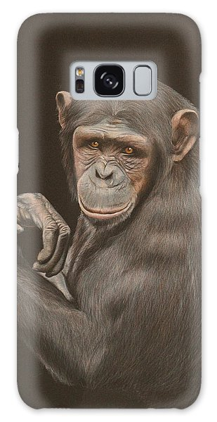 Galaxy Case - The Arm Wrestler - Chimpanzee by Jill Parry