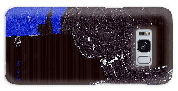 Galaxy Case featuring the digital art the Art of Being Silent by David Clark