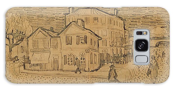 Pen And Ink Drawing Galaxy Case - The Artists House In Arles by Vincent Van Gogh