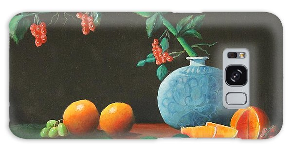 The Asian Vase And Oranges Galaxy Case